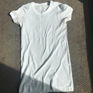 White Short Sleeved Work out T-shirt from lulu